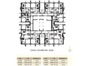 邦华星际广场住宅复式二层平面图图片