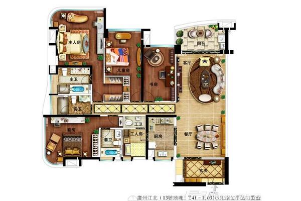 四房两厅室内设计图片展示