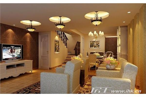 别墅-116㎡-客厅装修效果图  查看原图             图片类型:样板间