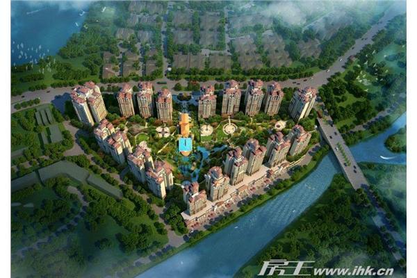 中国美林湖楼盘规划图_中国美林湖贝沙湾鸟瞰图_广州