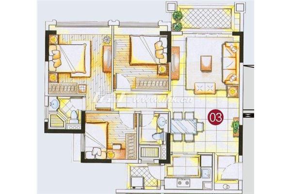 广州海珠区信和广场9栋的平面图
