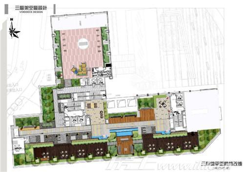 御东雅苑三楼架空层花园平面图