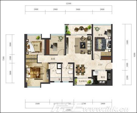 农村五房 设计图