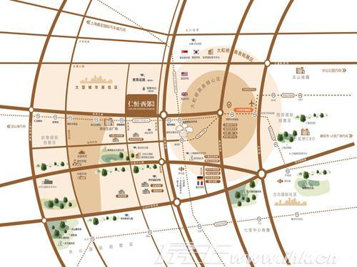 仁恒海棠湾地图