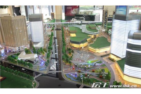 半圆形广场景观绿化设计cad图