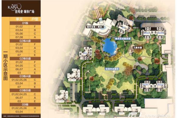 佳兆业城市广场楼盘规划图_佳兆业城市广场一期布局图
