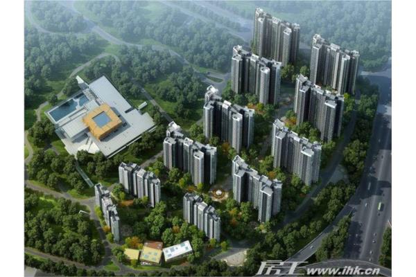自由人花园楼盘效果图 自由人花园一期鸟瞰图 广州新房