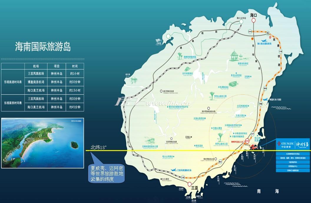 神州半岛星悦海岸楼盘交通图