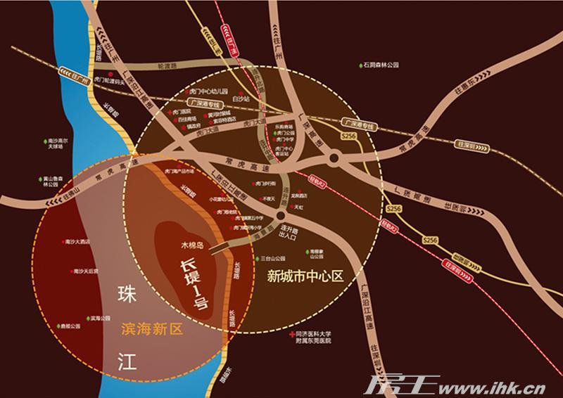 长堤1号交通图