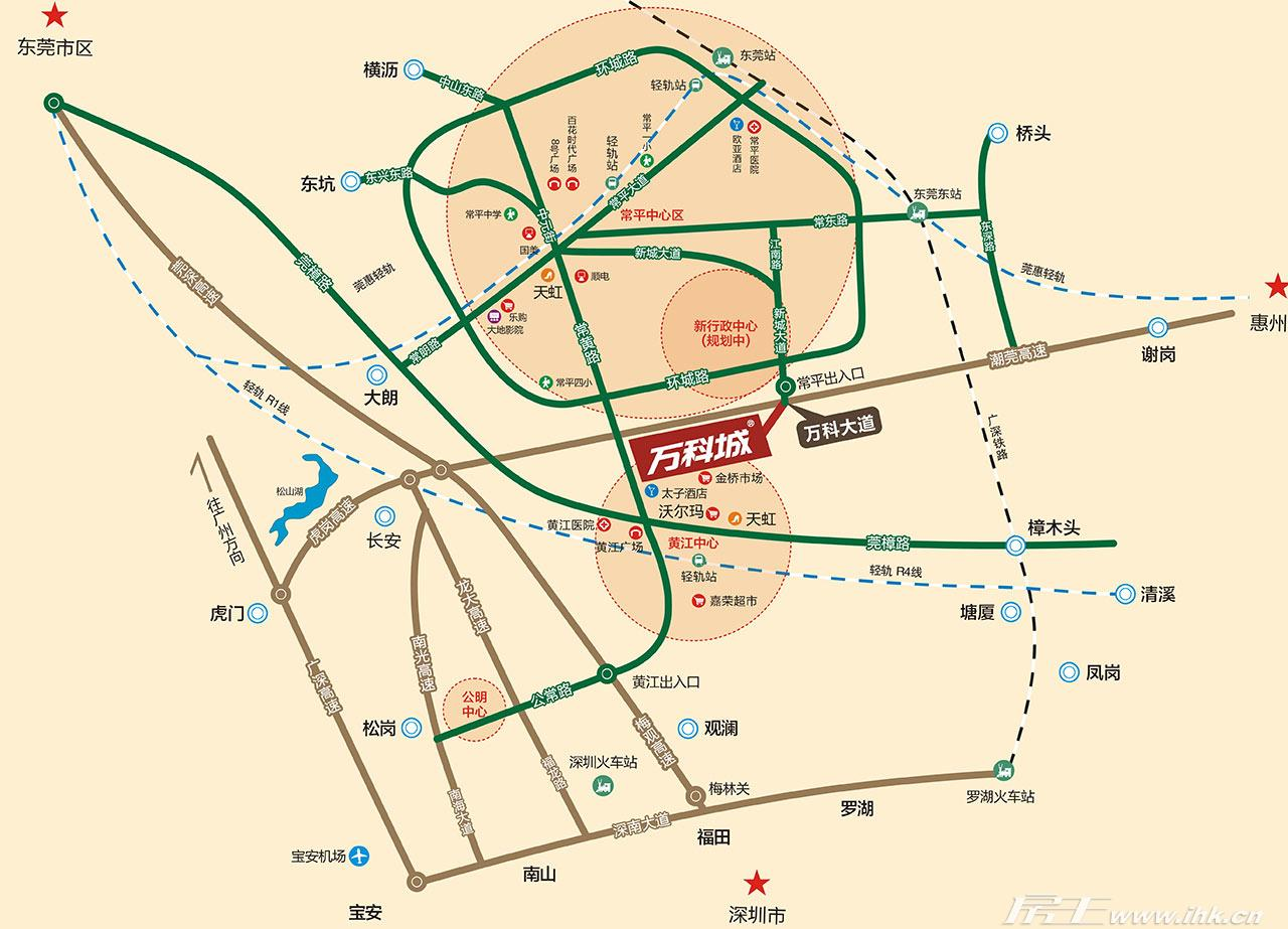 万科城大栖地交通图