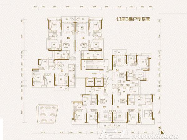 锦绣天伦花园楼盘户型图_锦绣天伦花园13栋3梯平面