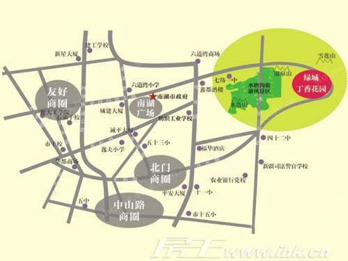 绿城丁香花园二期位置图
