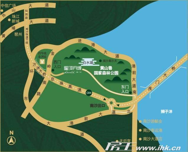 星河丹堤交通图