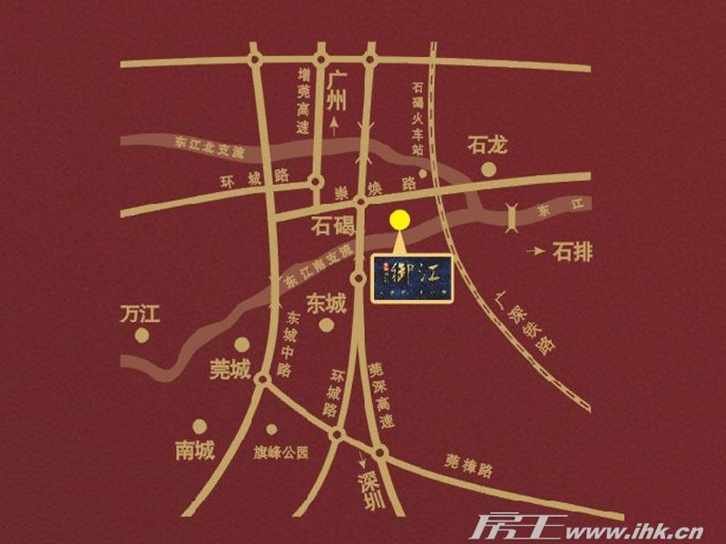盈拓御江交通图