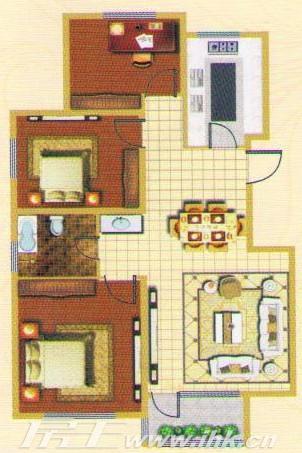馨河湾楼盘户型图_馨河湾三房两厅两卫