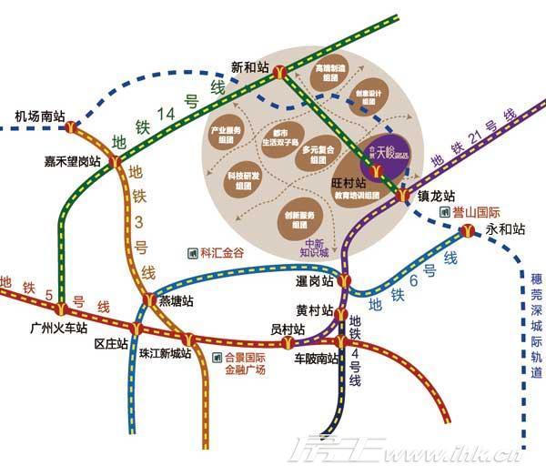 合景天峻 交通图