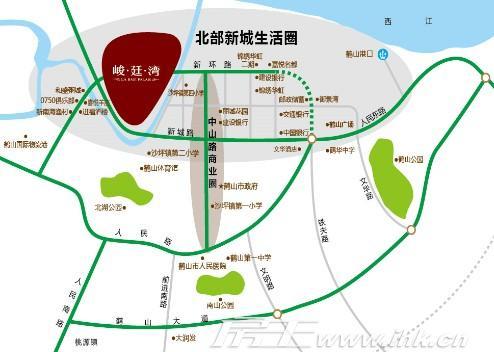 奥园峻廷湾交通图