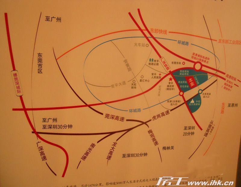 蔚蓝城邦交通图