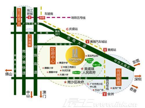 南沙保利城交通图