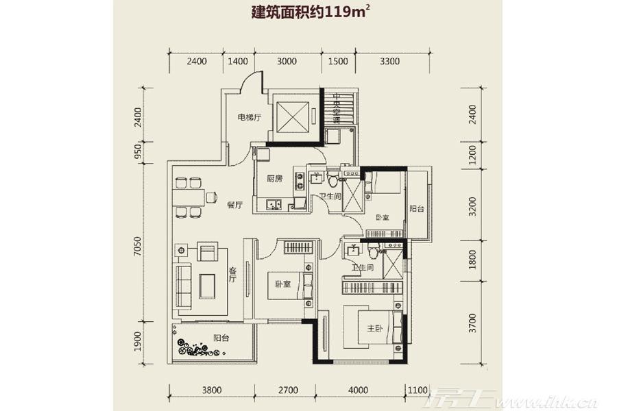 创基丽江国际户型图