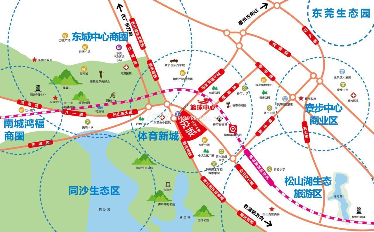 保利中惠悦城交通图
