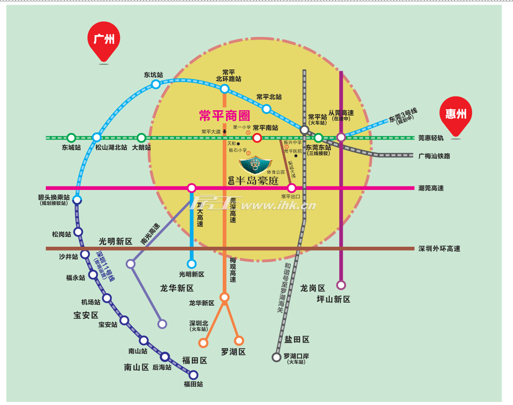 半岛豪庭四期交通图