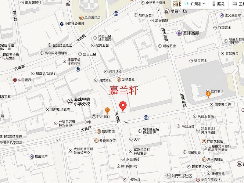 大新印记·嘉兰轩交通图