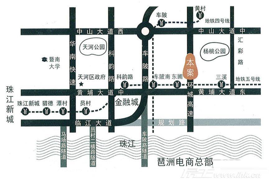 兰亭盛荟交通图