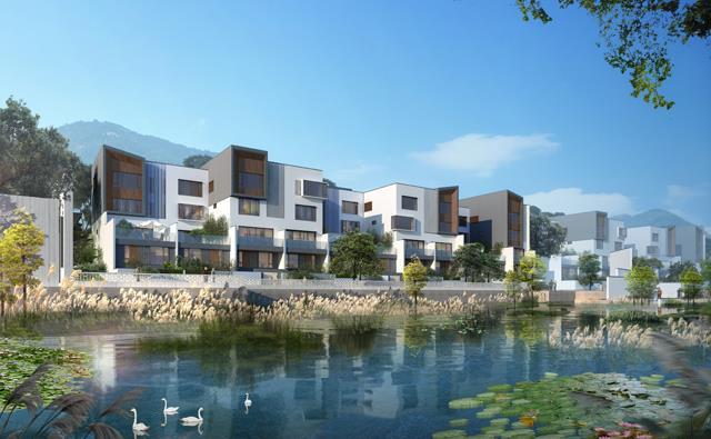 江门鹤山市新环路 楼盘动态:新福港·峻廷湾在售四种户型别墅