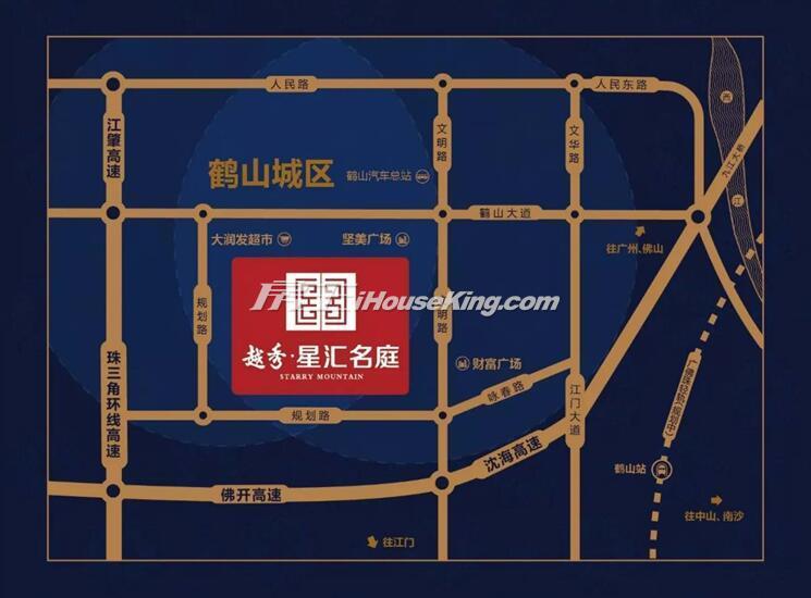 越秀星汇名庭(鹤山)交通图