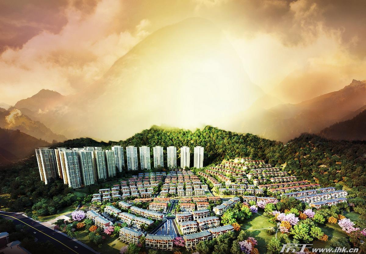 华标峰湖御境效果图