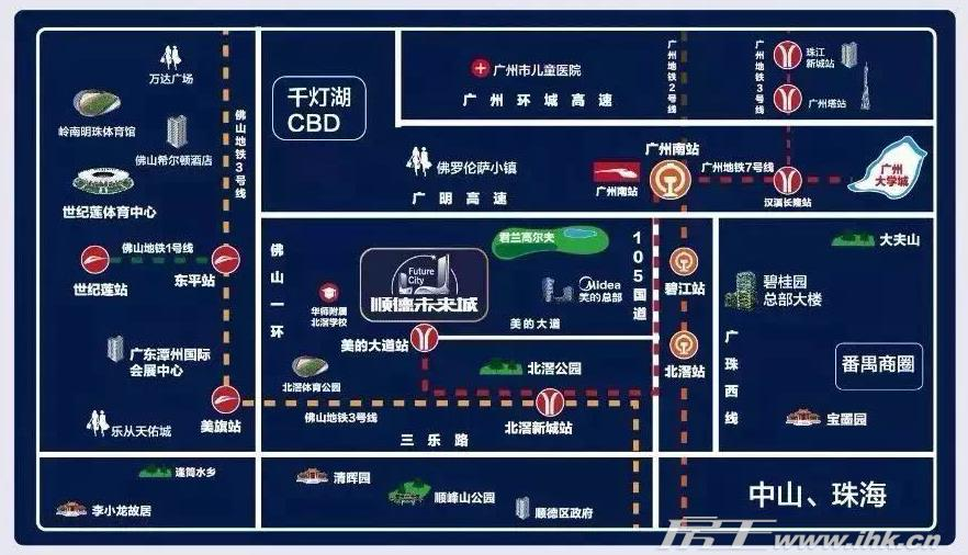 顺德未来城交通图