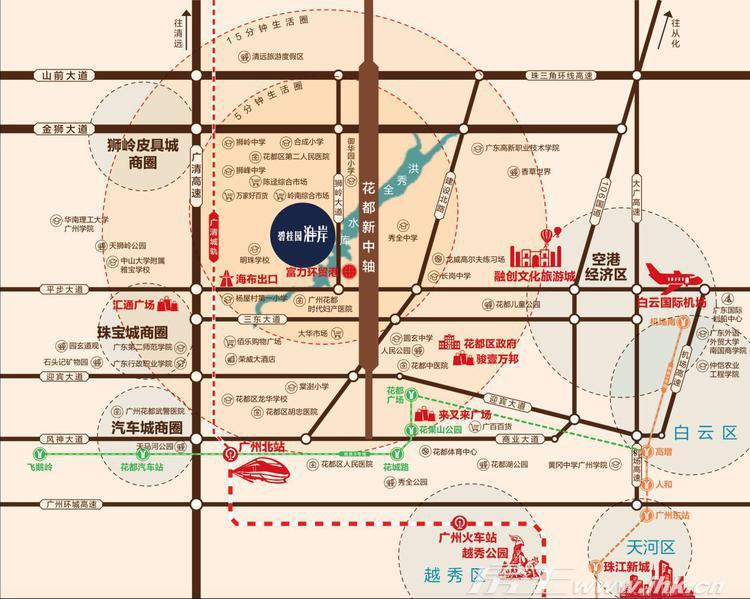 碧桂园泊岸交通图