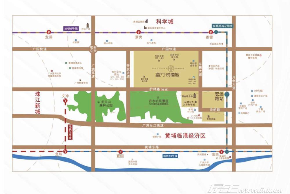 富力悦禧城交通图