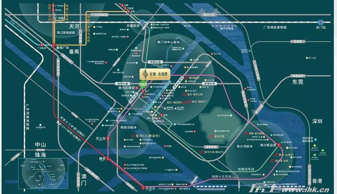 星河·东悦湾交通图