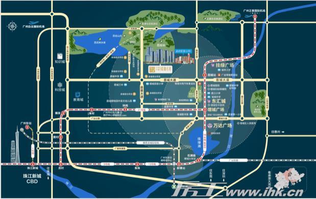 中国中铁·诺德梓悦台交通图