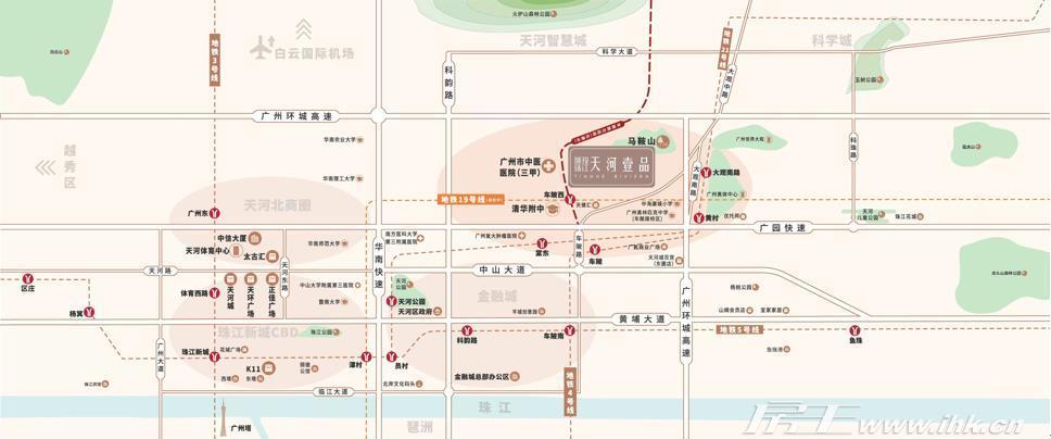 城投珠江·天河壹品交通图