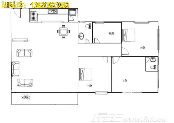 3房2厅2卫                                  户型