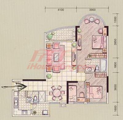9x13三房二厅设计图展示