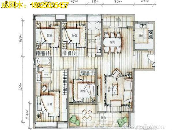 4房2厅2卫设计图纸