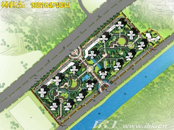 岭南小区手绘平面图