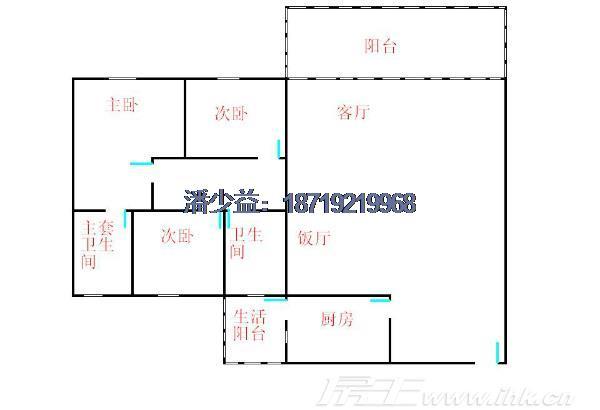 珠江半岛花园 方正三房 学位房 精装修 送100方大天台